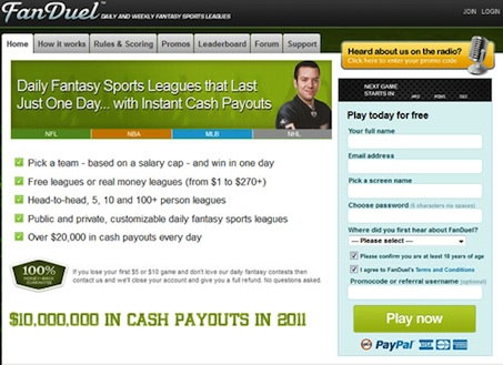 Fanduel Review Signup Screenshot