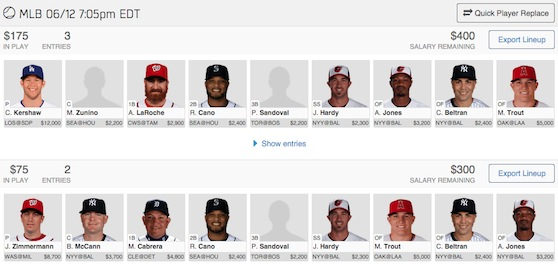Daily Fantasy Baseball — for people who want to WIN!
